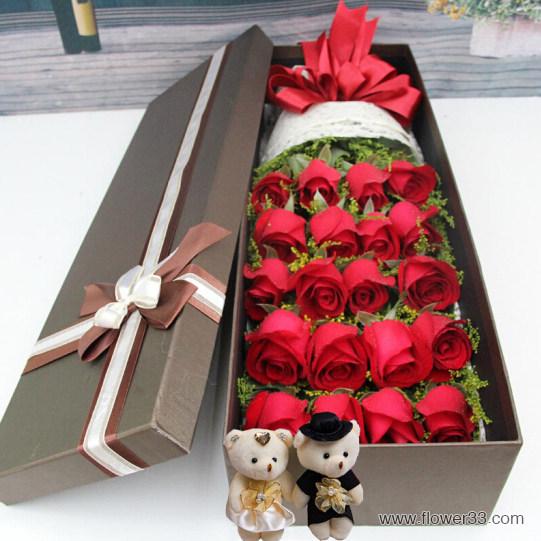 牵手看红日 - 19支红玫瑰礼盒