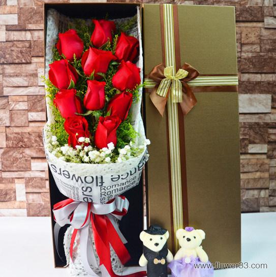 珍惜爱 - 鲜花红玫瑰礼盒