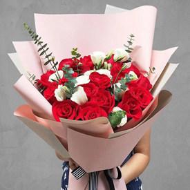生日送花送几朵-红玫瑰花束19朵