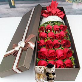 给女朋友送花送什么好-红玫瑰礼盒