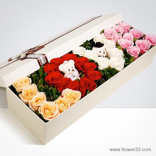 多姿多彩的爱情 - 创意玫瑰花多色玫瑰LOVE