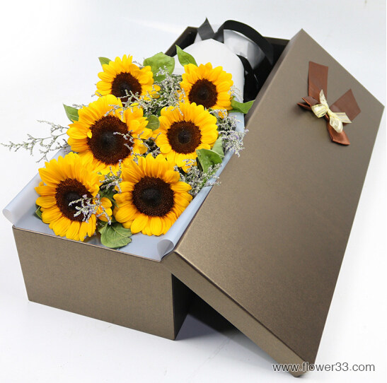 阳光快乐 - 向日葵鲜花礼盒
