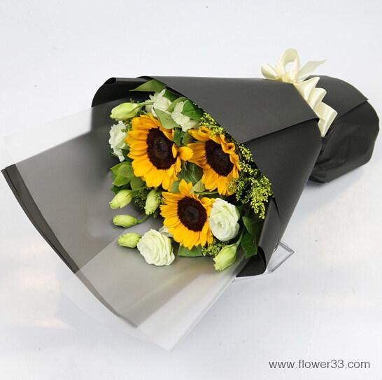 开心依然 - 小向日葵花束