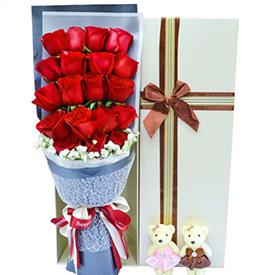 送花给女生-红玫瑰礼盒