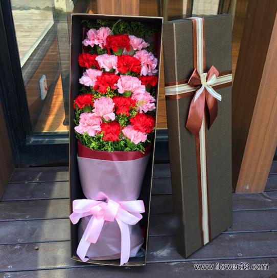 感谢有你 - 预订康乃馨礼盒花束