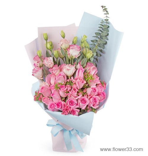 以爱之名 - 玫瑰花礼品粉玫瑰鲜花