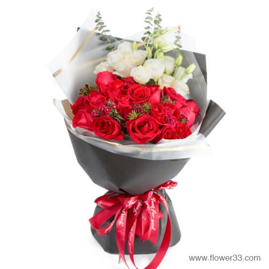 海棠白月 - 红玫瑰鲜花网