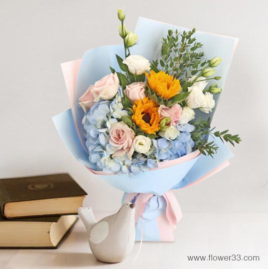 碧空之歌 - 花束韩式包装风格