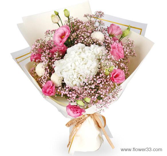 粉漾甜心 - 好看的鲜花搭配