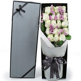 生日送花送几朵-白玫瑰生日礼品