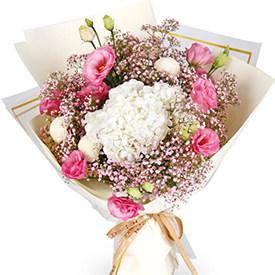 送花给女生-韩式花束