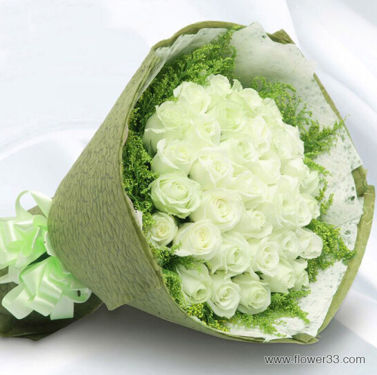 因为喜欢 - 白玫瑰鲜花预定