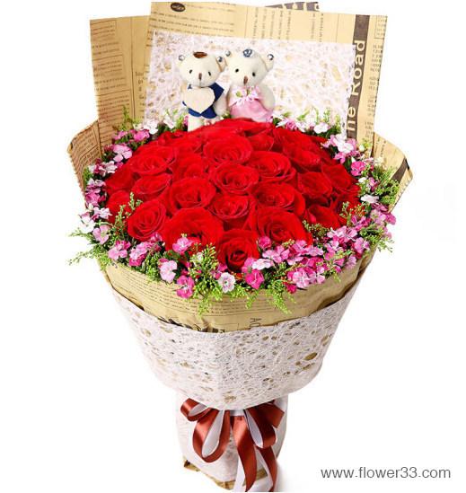 守护你 - 精美玫瑰花花束