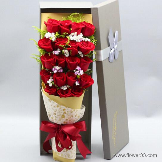 倾城之恋 - 精美红玫瑰礼盒