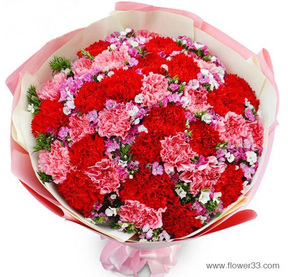 好运常伴 - 康乃馨鲜花花束
