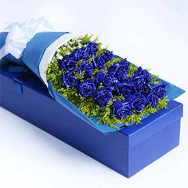 我是你爱情的俘虏 - 蓝色妖姬玫瑰礼盒