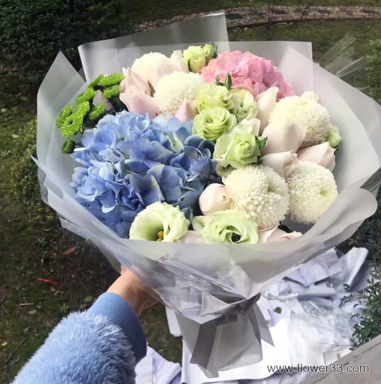天使的心跳 - 多种鲜花混搭花束