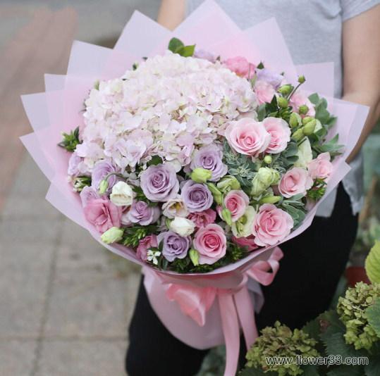 柔情蜜意 - 漂亮的花束网上订鲜花