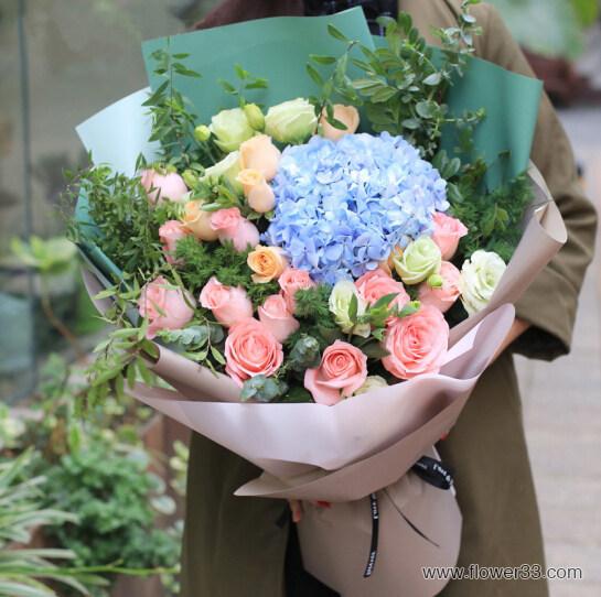 眷念 - 韩式包花束多种鲜花搭配