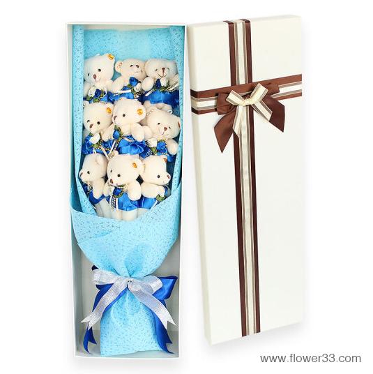 小蓝天之梦 - 卡通花束礼盒
