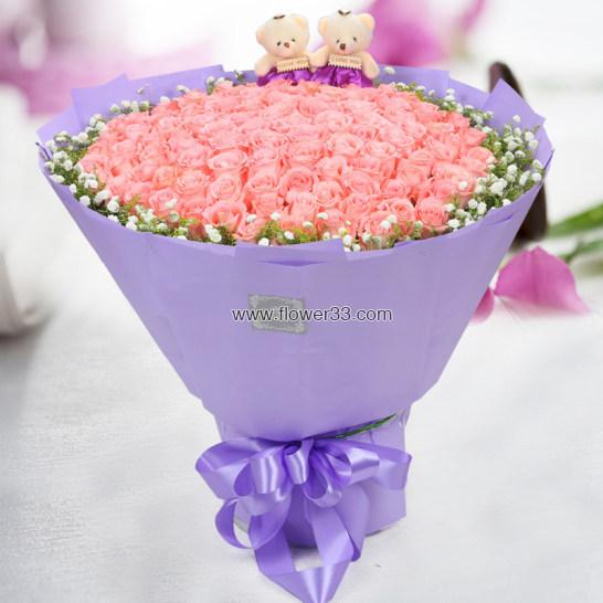 只要你幸福 - 网上订99朵玫瑰