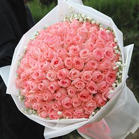 表白送多少朵玫瑰花-99朵粉玫瑰花束