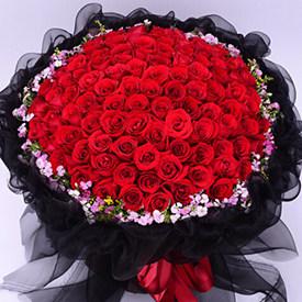 怎么送花给女朋友-红玫瑰花束