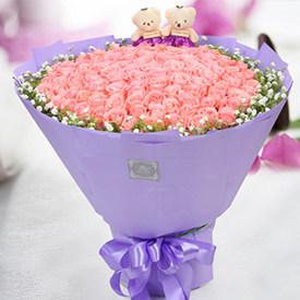 表白用什么花-浪漫粉玫瑰花束