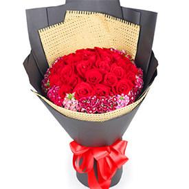 给女朋友表白送什么好-红玫瑰花束