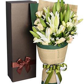 快乐天使 - 百合花束礼盒