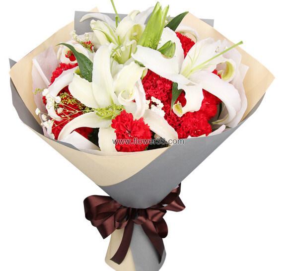 愿你幸福 - 康乃馨百合花