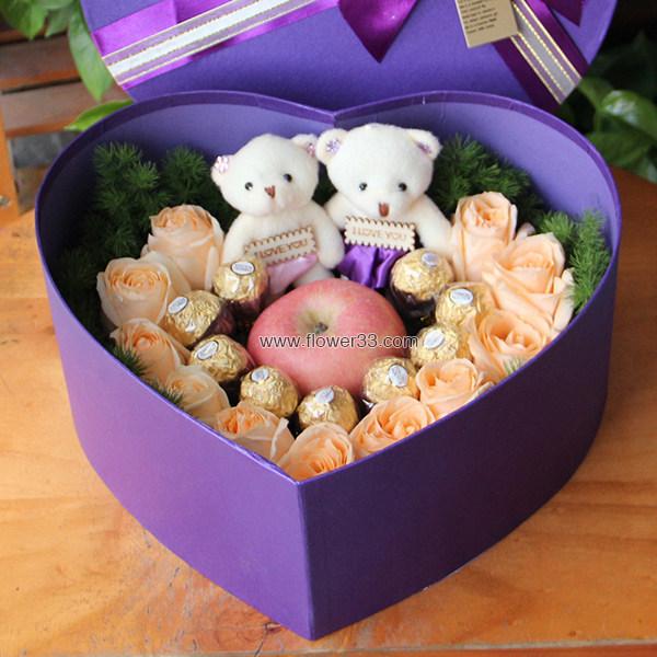快乐平安夜 - 圣诞节礼盒鲜花