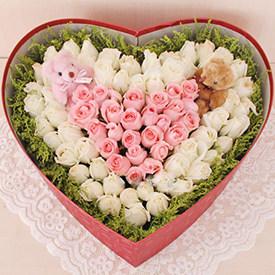 有你感觉真好 - 心形礼盒鲜花