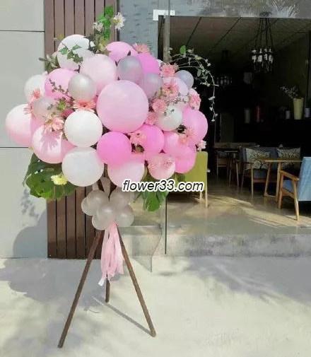 万事如意 - 气球花朵花篮
