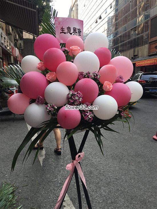 春风得意 -  玫瑰花气球花篮